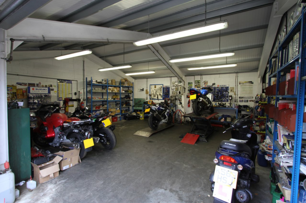 Castledine Motorcycles Workshop